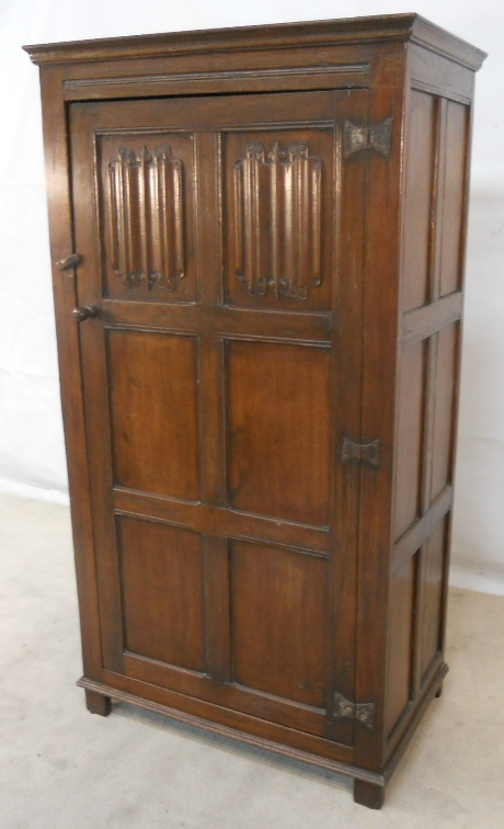 Antique Style Dark Oak Hanging Wardrobe Sold